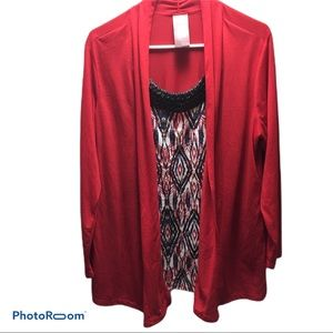 Plus size ladies top/cardigan